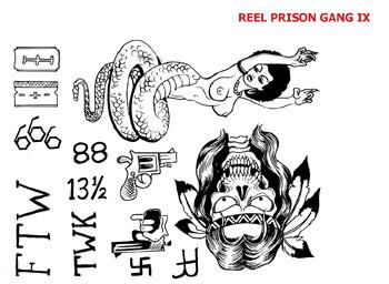 REEL TRANSFER SHEET - Prison Gang IX - Latino, Black & White.++-
