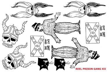 REEL TRANSFER SHEET - Prison Gang XII - White